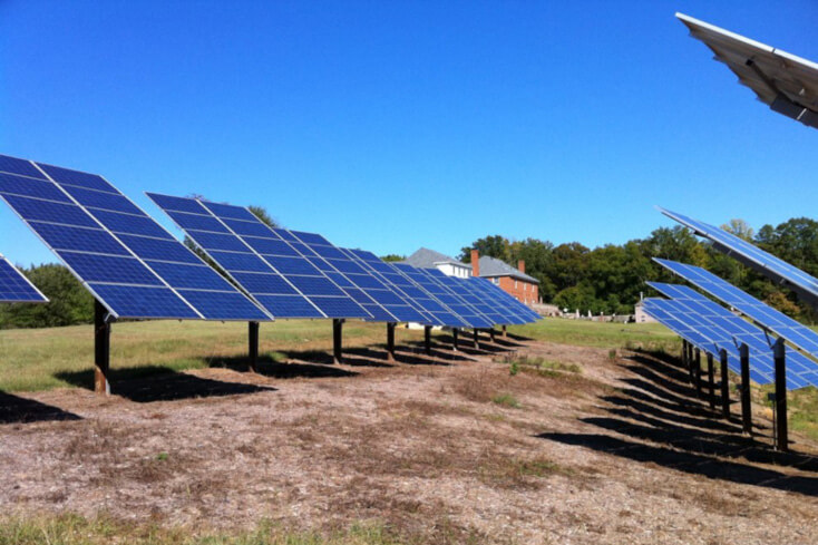 A solar-powered farm in Virginia