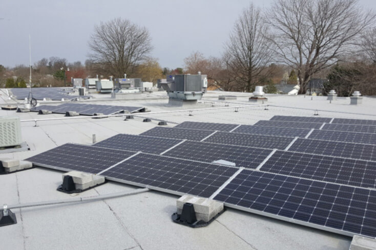 Our solar PV solution for a flat roof
