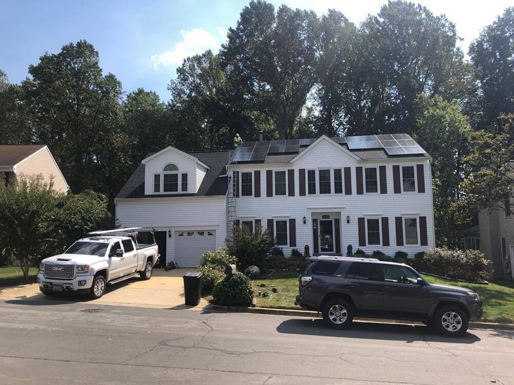 A family home in Potomac, Maryland, plugged into the sun with GreenBrilliance