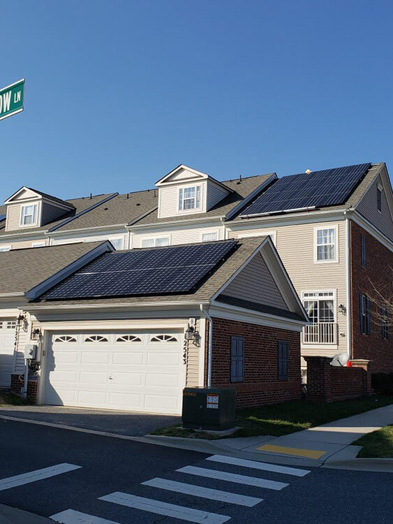 A newly constructed townhome is powering a solar future in Clarksburg, Maryland