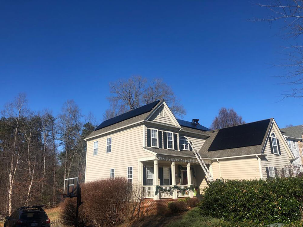 A new home plugged into the sun with GreenBrilliance in Charlottesville, Virginia