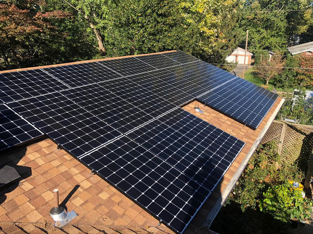 Newly launched Panasonic PV panels installed in Vienna, Virginia