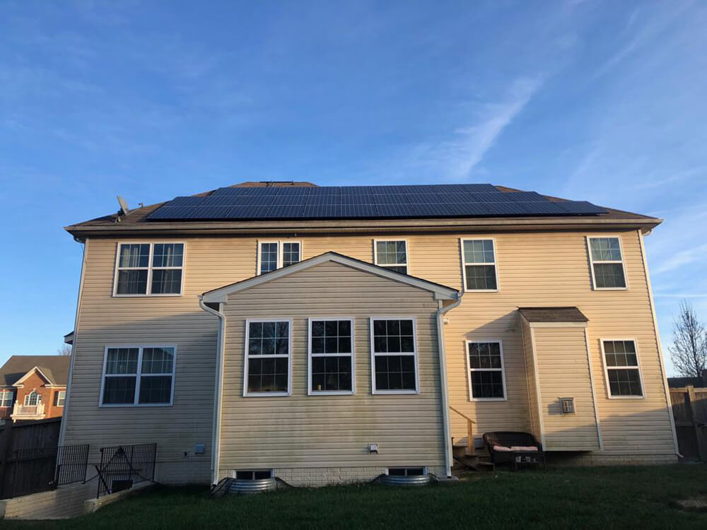 Rooftop grid-tied PV system installed in Fauquier County, Virginia