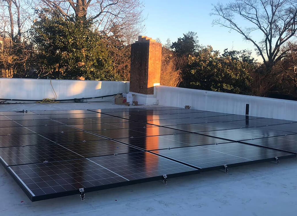 Flat roof installation for one of our clients, with U-anchors