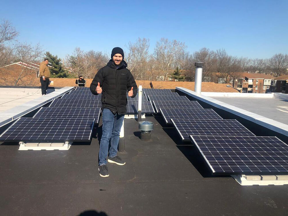 An excited customer who powered a solar future with GreenBrilliance in Washington DC