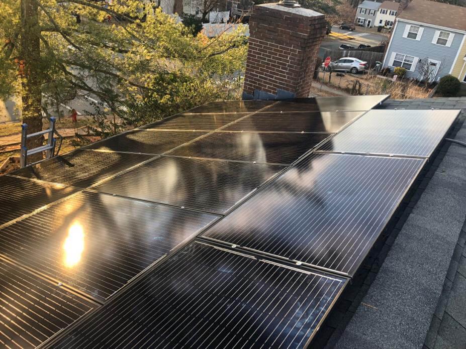 An East-West facing house went solar in Arlington County, Virginia