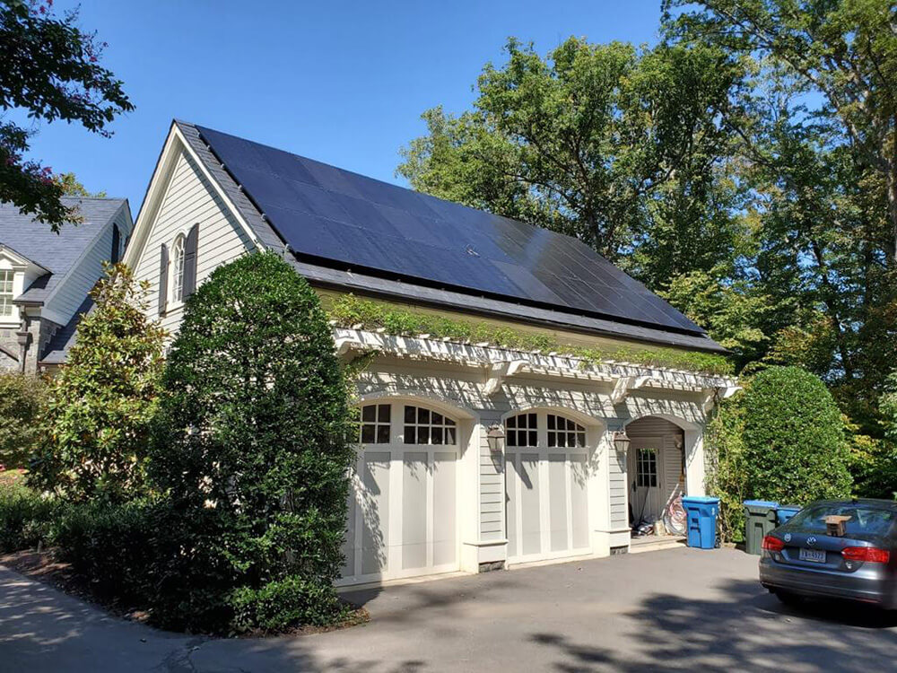 Flawless installation on a garage in McLean, Virginia