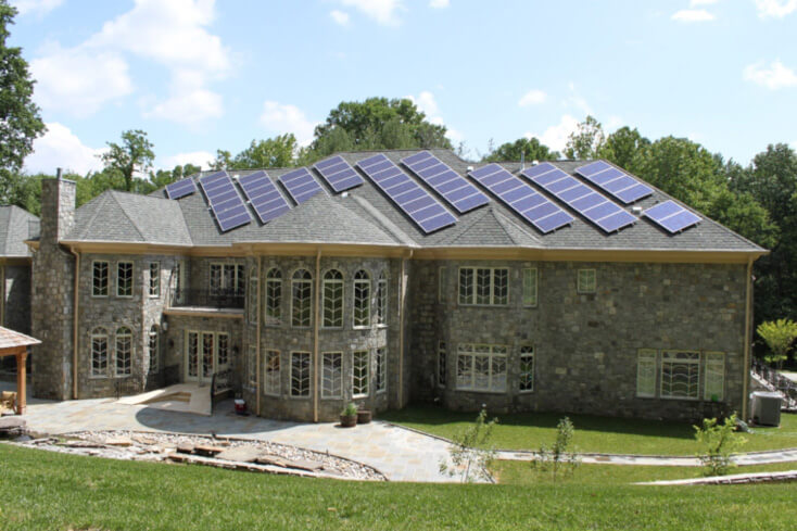 GreenBrilliance delivered a solar power system for estate homes in Maryland
