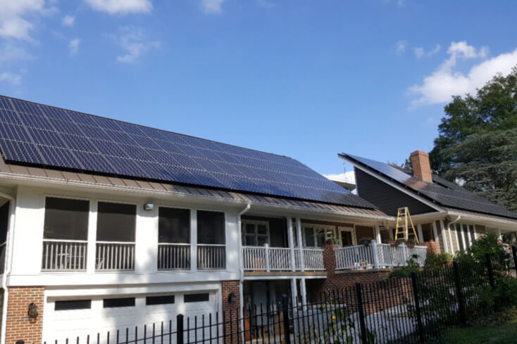 A grid-tied PV system in Maryland
