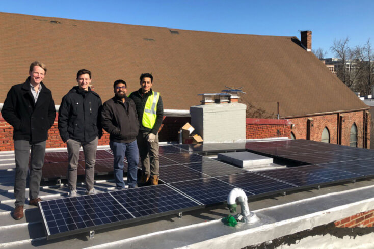 Residential rooftop PV system on a shingle roof
